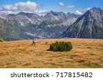 runner in blue running in... | Shutterstock . vector #717815482
