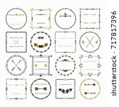 black and golden empty circle... | Shutterstock .eps vector #717817396