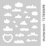set of clouds on transparent...   Shutterstock .eps vector #717830698