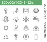 ecology and energy line icons.  ... | Shutterstock . vector #717831472