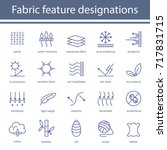fabric and clothes feature line ... | Shutterstock . vector #717831715