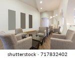 hotel lobby cafe interior   Shutterstock . vector #717832402