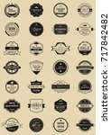 28 vector labels and logotypes. ... | Shutterstock .eps vector #717842482