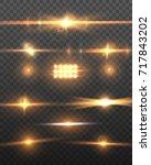 illustration of lens flare... | Shutterstock . vector #717843202