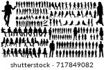 isolated  a collection of... | Shutterstock . vector #717849082