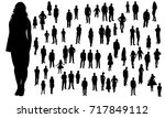 isolated  silhouette of a... | Shutterstock . vector #717849112