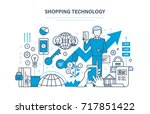 shopping technology. financial... | Shutterstock . vector #717851422