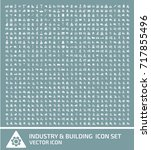 industry and building icon set... | Shutterstock .eps vector #717855496