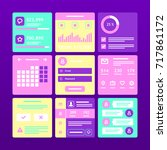 interface ui design. vector...