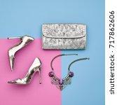 fashion design woman... | Shutterstock . vector #717862606