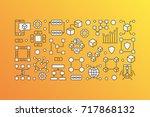 blockchain modern banner  ... | Shutterstock .eps vector #717868132