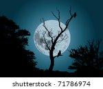 Moonlight Forest Background...