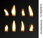 Candle Fire Flame Isolated....