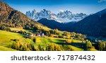 magnificent panorama of santa... | Shutterstock . vector #717874432
