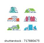 line and color buildings'... | Shutterstock .eps vector #717880675