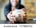 saving money | Shutterstock . vector #717880762