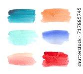abstract watercolor brush...   Shutterstock . vector #717885745