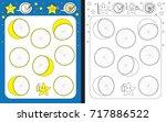 preschool worksheet for... | Shutterstock .eps vector #717886522