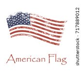 american flag background for web   Shutterstock . vector #717889012