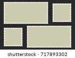 blank postage stamps. light... | Shutterstock .eps vector #717893302