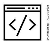 web coding icon | Shutterstock .eps vector #717895405