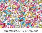 healthcare concept in 3d... | Shutterstock .eps vector #717896302