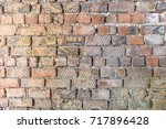 red brick wall texture.... | Shutterstock . vector #717896428