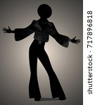 silhouette of man dancing soul  ... | Shutterstock .eps vector #717896818