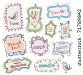 cute doodle frames   Shutterstock .eps vector #71789842