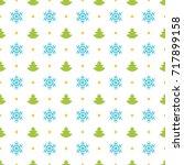 christmas pattern vector design ... | Shutterstock .eps vector #717899158