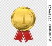 first place golden medal... | Shutterstock .eps vector #717899626