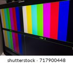 monitor in the television...   Shutterstock . vector #717900448