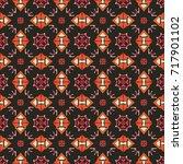 seamless illustrated pattern... | Shutterstock .eps vector #717901102