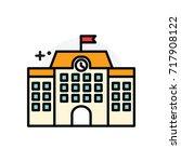 school building concept... | Shutterstock .eps vector #717908122