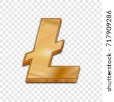 golden litecoin symbol isolated ... | Shutterstock .eps vector #717909286