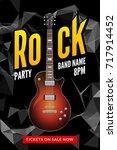 rock festival flyer event... | Shutterstock .eps vector #717914452