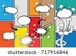 comics template. vector comic... | Shutterstock .eps vector #717916846