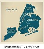 modern city map   new york city ...   Shutterstock .eps vector #717917725