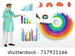medical infographic elements... | Shutterstock .eps vector #717921166