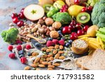 healthy balanced dieting... | Shutterstock . vector #717931582