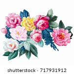 Stock photo flowers bring pure and fresh sense the leaves and flowers art design 717931912