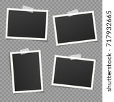 set of vintage photo frame with ... | Shutterstock .eps vector #717932665