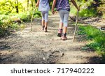 children hiking in mountains or ... | Shutterstock . vector #717940222