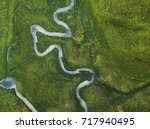 aerial landscape of winding... | Shutterstock . vector #717940495