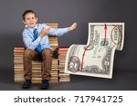 education concept. young...   Shutterstock . vector #717941725