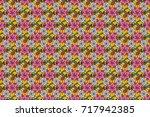 motley seamless pattern. raster ... | Shutterstock . vector #717942385