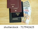 travel budget. collect money... | Shutterstock . vector #717942625