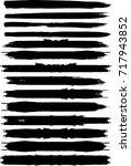 grunge paint stripe . vector... | Shutterstock .eps vector #717943852