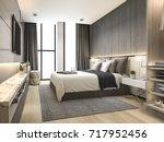 3d rendering luxury modern... | Shutterstock . vector #717952456