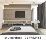 3d rendering luxury modern... | Shutterstock . vector #717952465